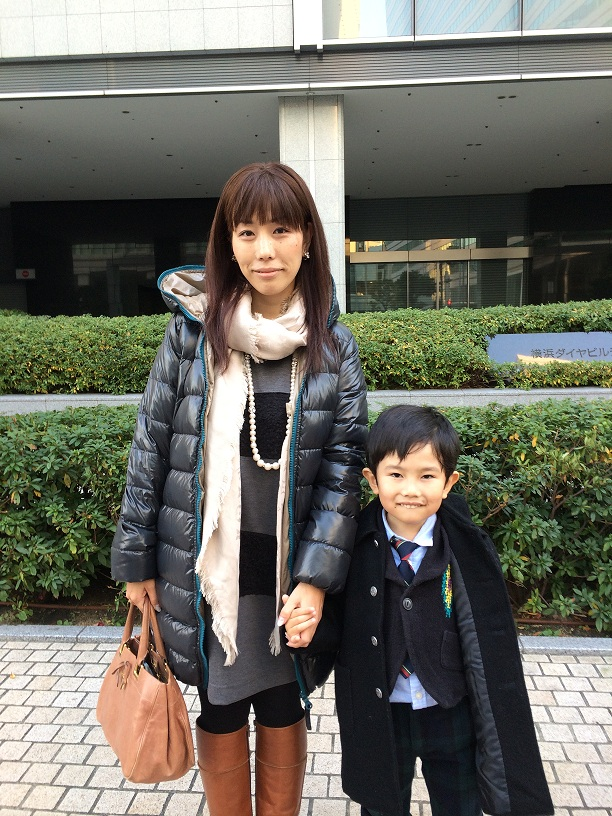 河合さんと息子くん@入学式