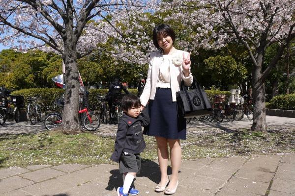2014年4月 幼稚園の入園式にて