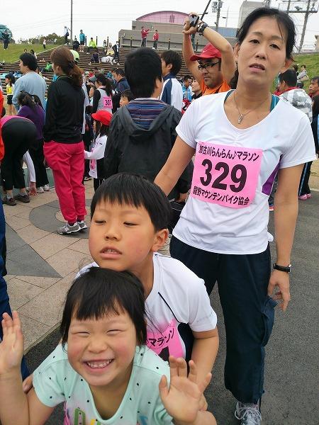 2013年3月 家族で参加したファミリーマラソン大会にて