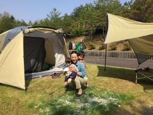 写真 2017-05-01 キャンプ場3人で50
