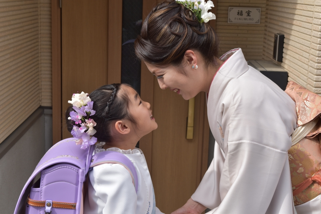 娘さんと入学式